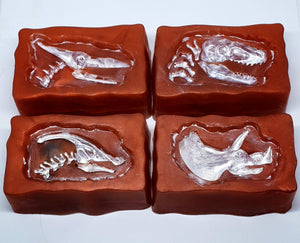 Dinosaur Fossil Suprise Toy Soap Bars - Splash-&-Sass
