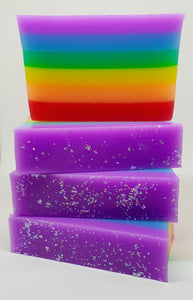 Rainbow Black Raspberry and Vanilla Soap Bars - Splash-&-Sass