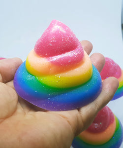 Rainbow Unicorn Poo Soap Bars - Splash-&-Sass