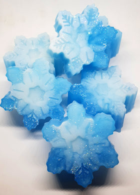 Snowflakes Frozen inspired Soap Bars - Splash-&-Sass