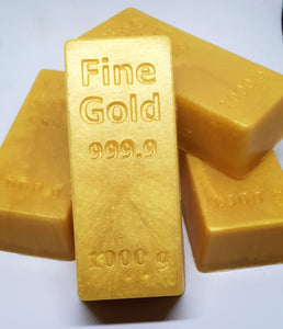 Gold Bullion One Million Type Soap Bars