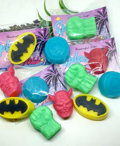 Super Hero Party Favours - Set of 4 designs individually packaged - Splash-&-Sass