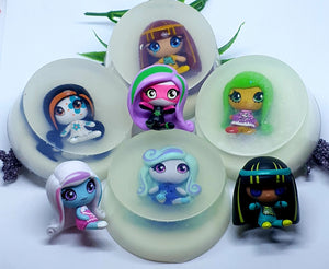 Monster Toy Soaps - Monster High inspired - Splash-&-Sass
