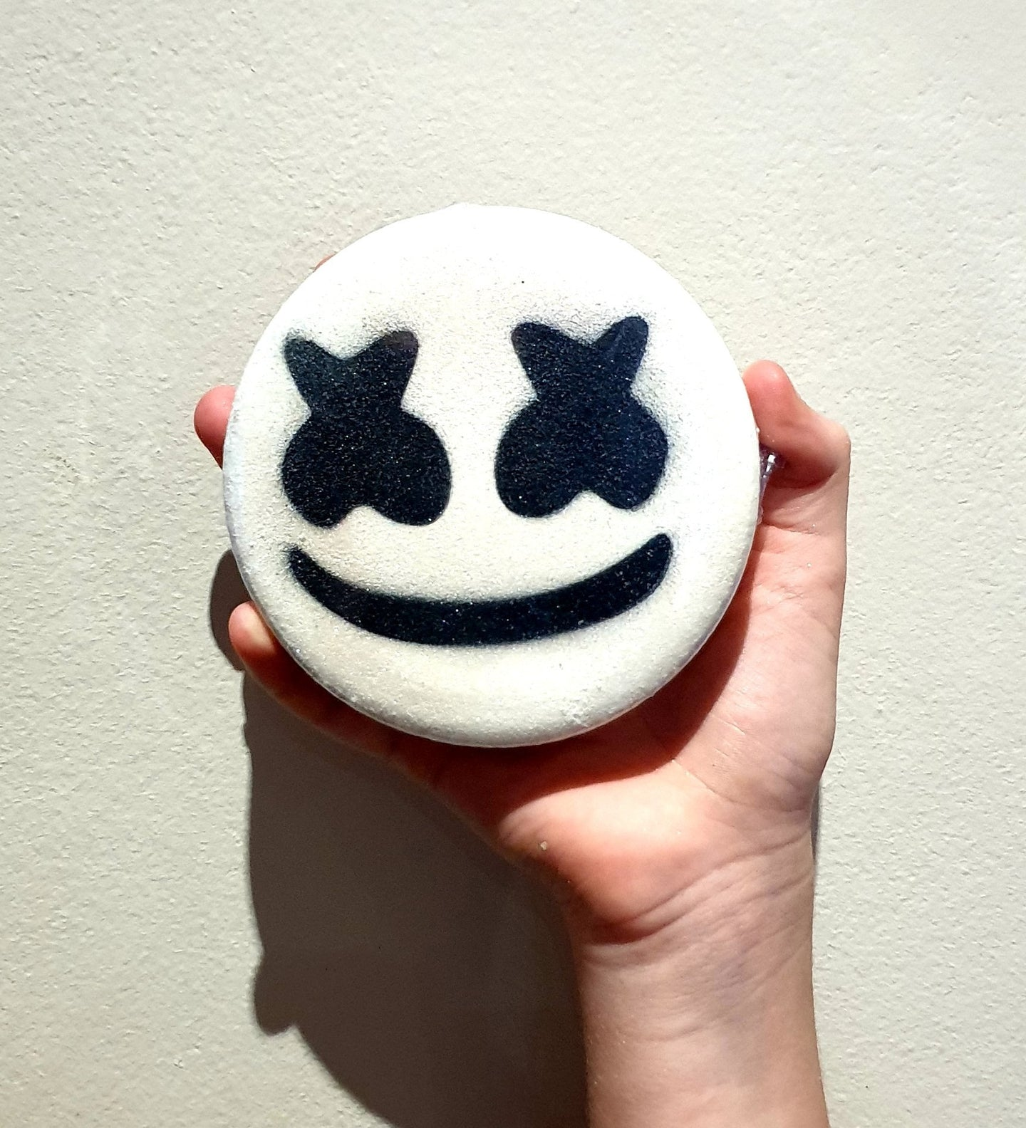 Marshmello Fortnite inspired Disc Bath Bomb - Splash-&-Sass