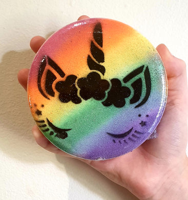 Unicorn Rainbow Disc Bath Bomb - Splash-&-Sass