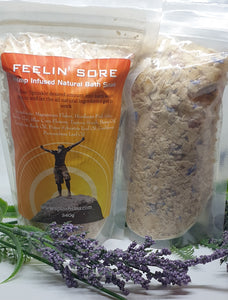Hemp Infused Natural Bath Soak - Feelin' Sore - Splash-&-Sass