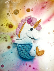 Colour Burst Mermicorn Bath Bomb