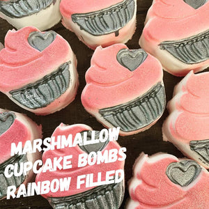 Cupcake Bath Bomb -  Rainbow - Splash-&-Sass