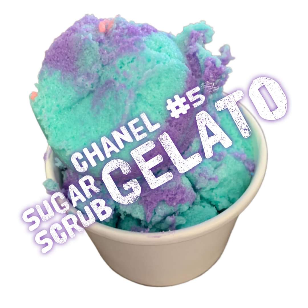 Chanel 5 Gelato Inspired Foamy Sugar Scrub 200g - Splash-&-Sass