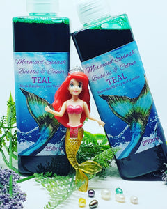 Mermaid Splash Bubbles & Colour - Teal - Splash-&-Sass