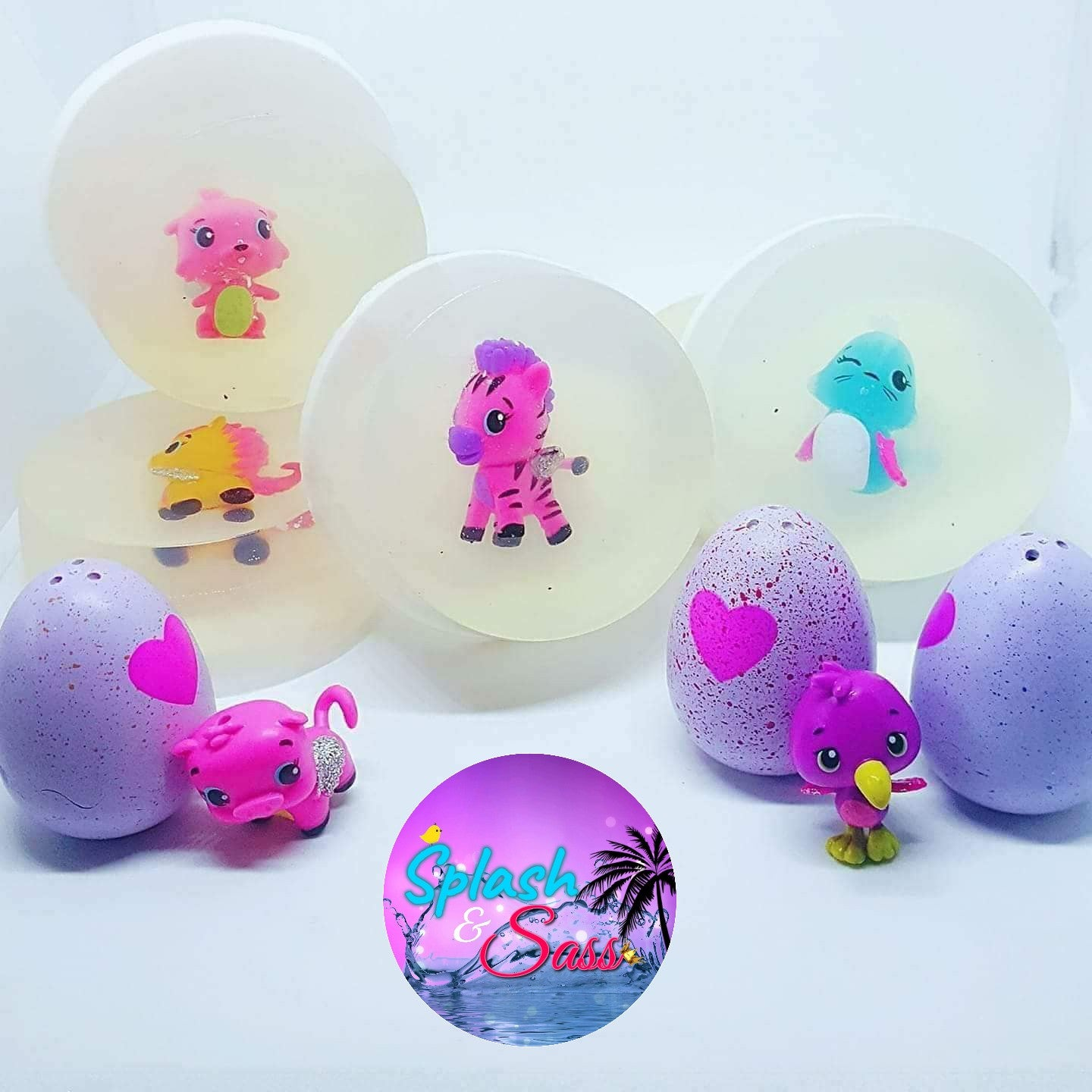 Hatch Toy Soaps - Hatchimal inspired - Splash-&-Sass