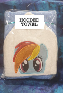 Colourful Horse Hooded Towel