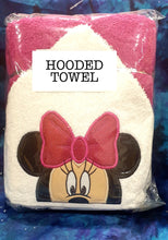Girl Mouse Pink Hooded Towel