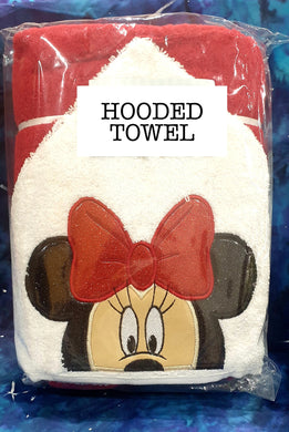 Red Girl Mouse Hooded Towel
