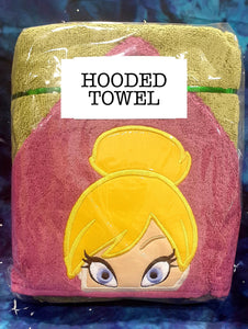 Tink Fairy Hooded Towel
