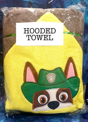Tracker Pup Hooded Towel