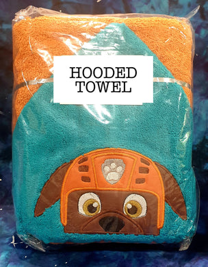 Diver Pup Hooded Towel