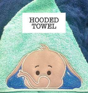 Baby Blue Elephant Hooded Towel