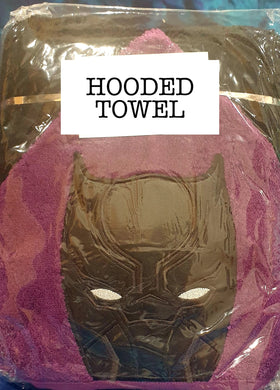 Panther Hero Hooded Towel