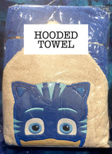 Pyjama Cat Blue Hooded Towel