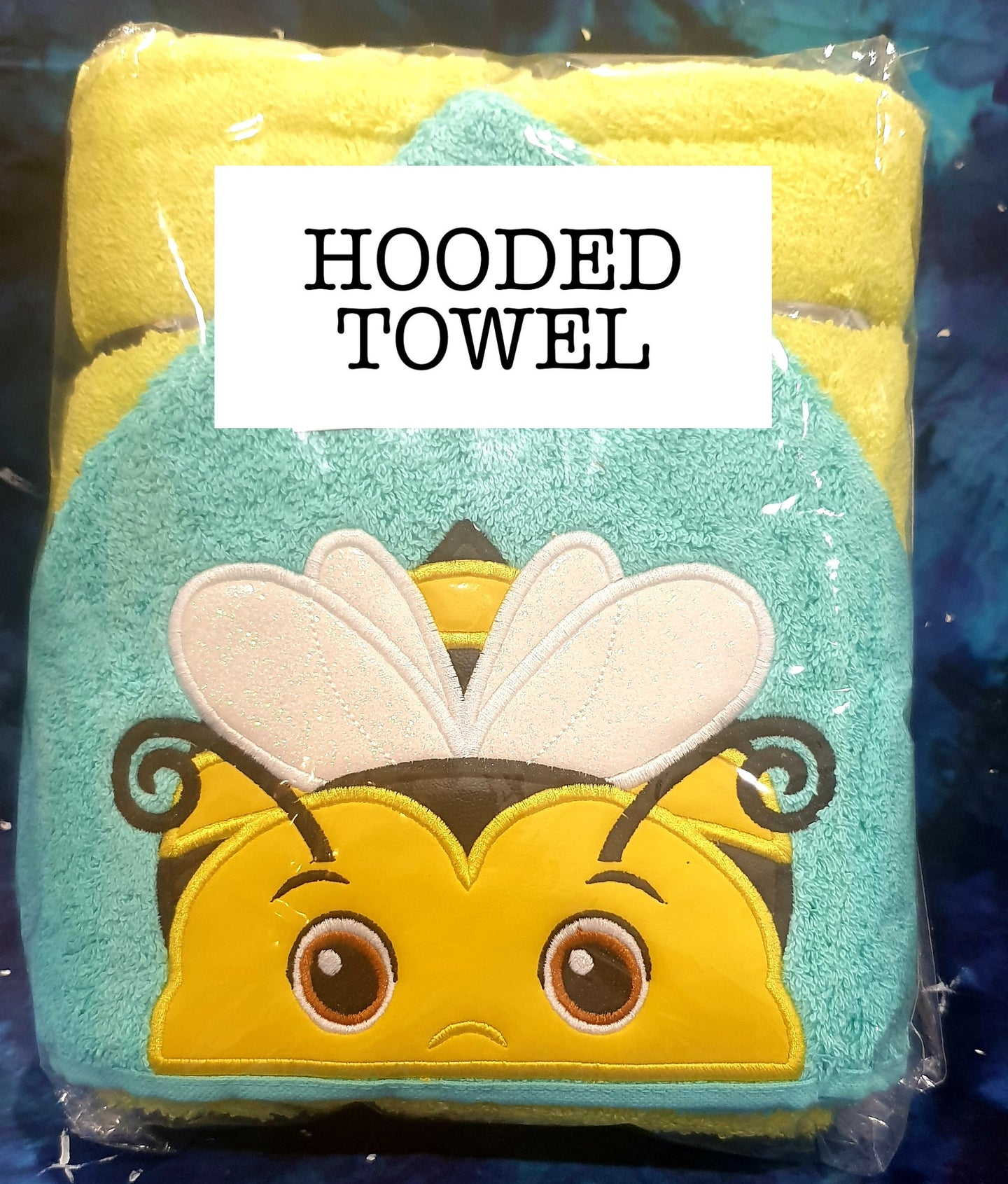 Yellow Bee Hooded Towel