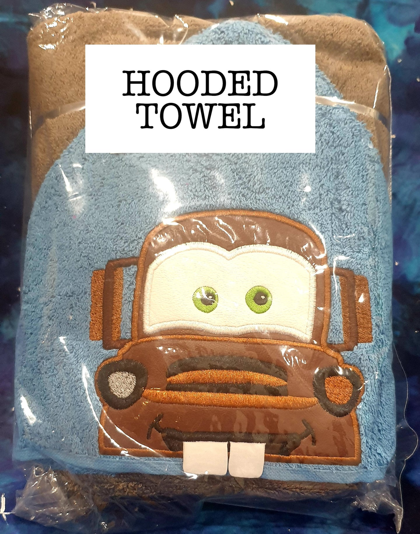 Mate Tow Truck Hooded Towel