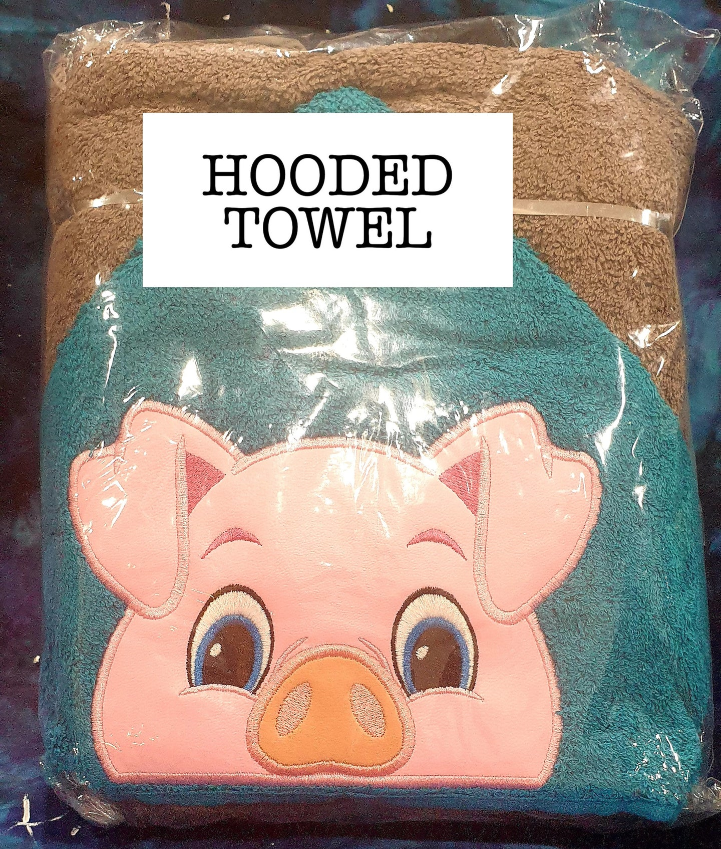 Farm Pig Hooded Towel
