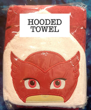 Red Pyjama Hero Hooded Towel