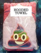 Pink Purple Poop Emoji Hooded Towel