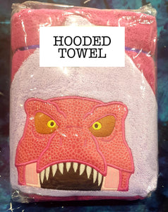 Pink Trex Hooded Towel