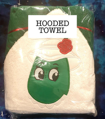 Dancing Dinosaur Hooded Towel