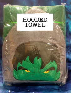 Green Smash Hero Hooded Towel