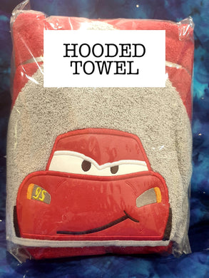 Red Car Hooded Towel