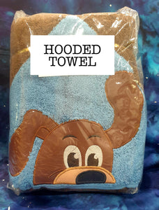 Brown Dog Hooded Towel