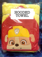 Red Hood Construction Pup Hooded Towel