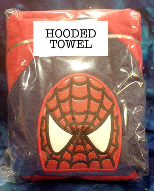 Web Spinner Hero Hooded Towel