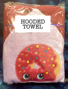 Shoppy Donut  Hooded Towel