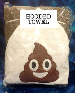 Brown Poo Emoji  Hooded Towel