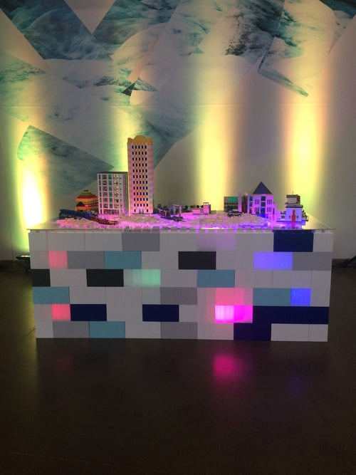 Use EverBlock to create portable exhibits, custom displays, illuminated displays, illuminated event furniture, and unique retail designs.