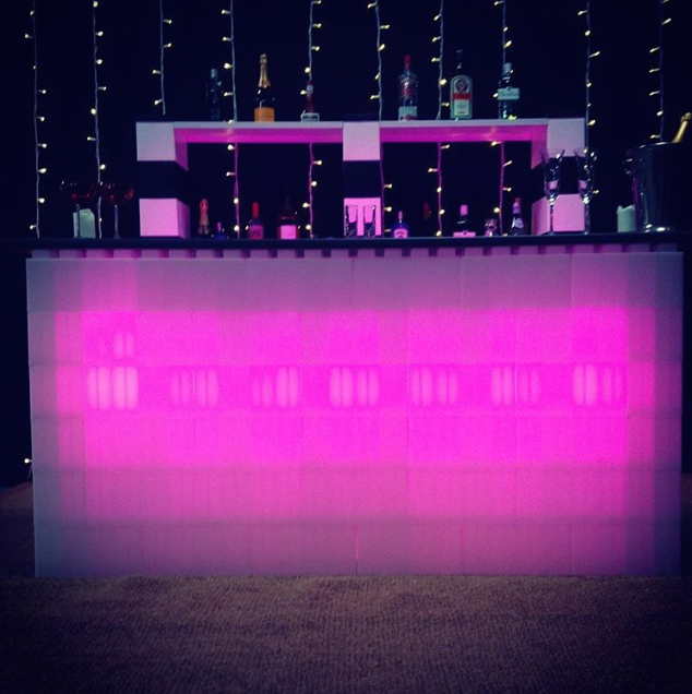 Modular illuminated LED furniture. Use EverBlock as a modular bar, shelving, and catering stations for unique event spaces.