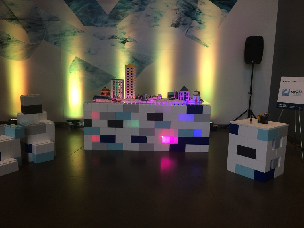 Illuminate tables, displays, backdrops and more