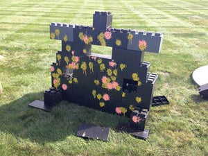 Create paintball targets and paintball forts