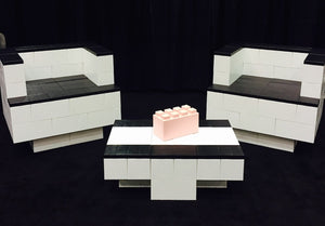 Use EverBlock to build creative event furniture, modular chairs, and block tables.