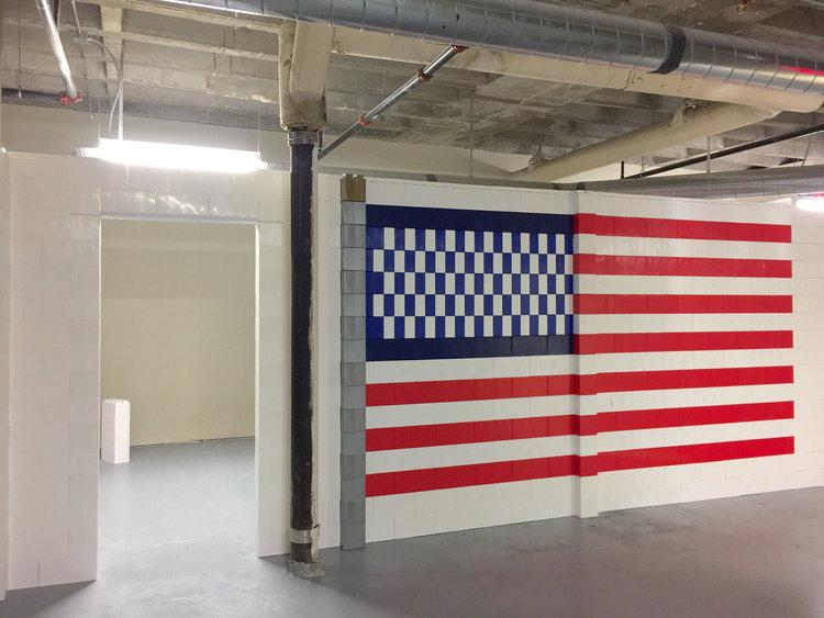 Integrate logos, designs, or other themes into your walls. Courtesy: USAF - Altus Air Force Base, 97th Civil Engineer Squadron