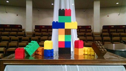 Use EverBlock to create colorful objects for all types of creative uses such as this church alter.   Alternate colors and block sizes to customize your construction and when done, simply disconnect and store for later use.