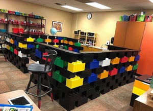 Classroom Play Mixed Block Set - 352 Pieces