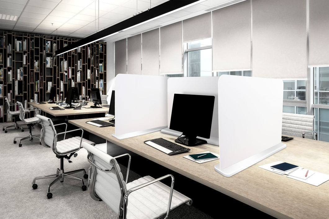 Desk divider 800mm wide x 600mm high white base