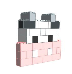Mosaic Model - Cow - 4 x 1 x 3 Ft 7 In