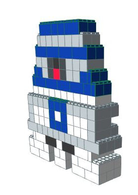 Mosaic Model - R2D2 - 6 Ft x 1 Ft 6 In x 7Ft 1 in