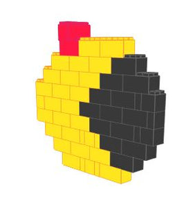 Mosaic Wall - Ms Pacman - 5 Ft 9 In x 1 Ft x 5 Ft 1 In